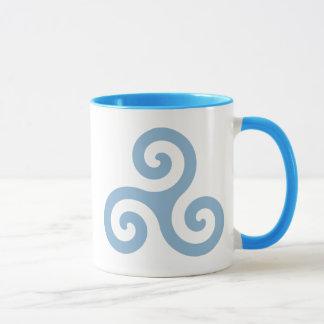 Taza Triskelion azul