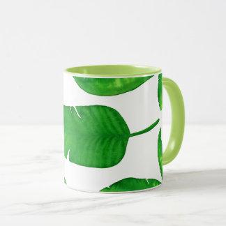 Taza tropical de la onza Eco de las hojas de palma
