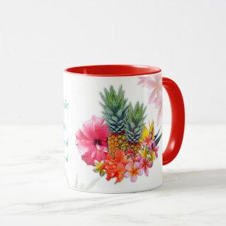 Taza tropical de las flores del profesor de sexo