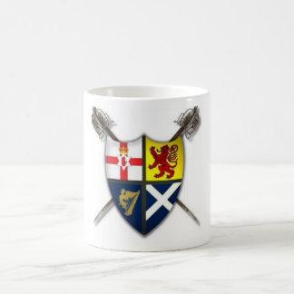 Taza Ulster-Escocesa/Escocés-Irlandesa del escudo