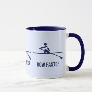 Taza Un de motivación más rápido más duro más fuerte de