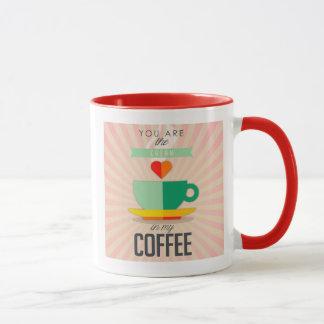 Taza Usted es la crema en mi café