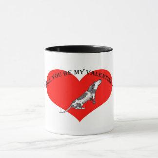 Taza ¿Usted será mi tarjeta del día de San Valentín?