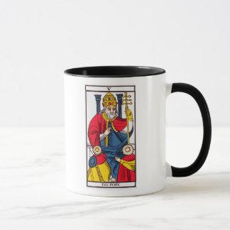Taza V el papa, carta de tarot