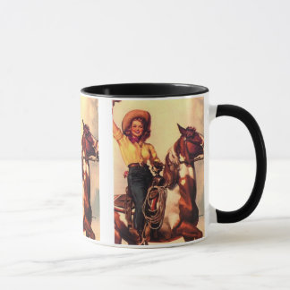 Taza Vaquera en su caballo