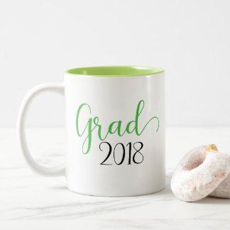 Taza verde de la graduación 2018