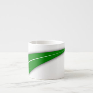 Taza verde de la porcelana de hueso de la hoja