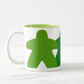 Taza verde de Meeple