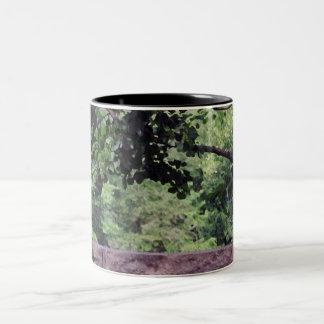Taza verde del granito