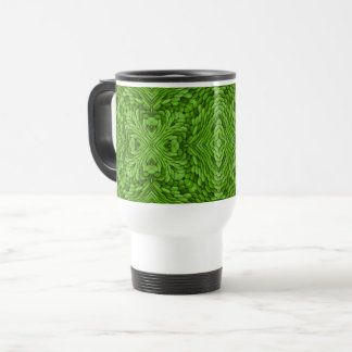 Taza verde del viaje del caleidoscopio del vintage