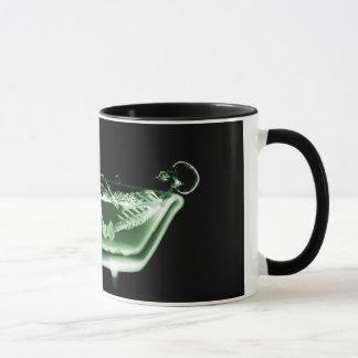 Taza Verde esquelético del negro del baño de la