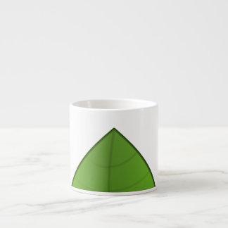 Taza verde linda de Eapresso de la hoja