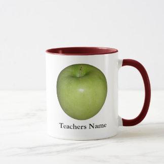 Taza verde personalizada de los profesores de