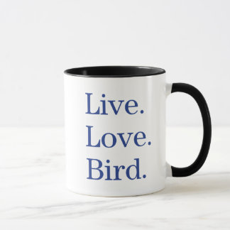 Taza Vivo. Amor. Pájaro