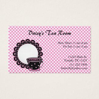 Taza y tarjeta de visita del té y del café del