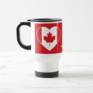 Tazas conocidas de encargo del amor de Canadá