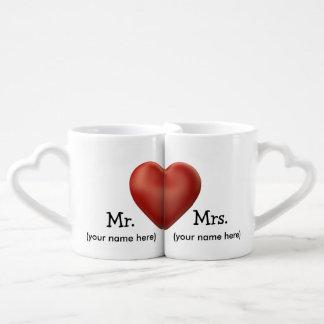 Tazas de café de encargo del boda