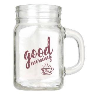 Tazas de café de la buena mañana