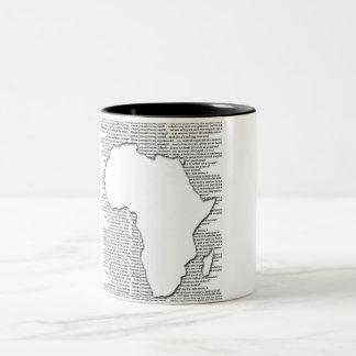 Tazas de café del recorte de África