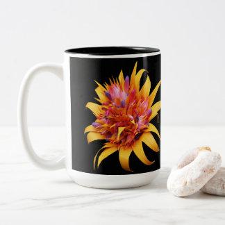 Tazas de café florales exóticas