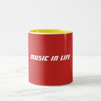 Tazas de café - música en logotipo de la vida