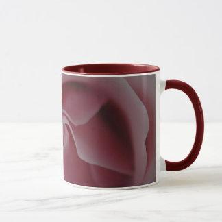 Tazas de café rosadas del remolino del rosa
