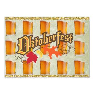 Tazas de cerveza de Oktoberfest Invitación 12,7 X 17,8 Cm