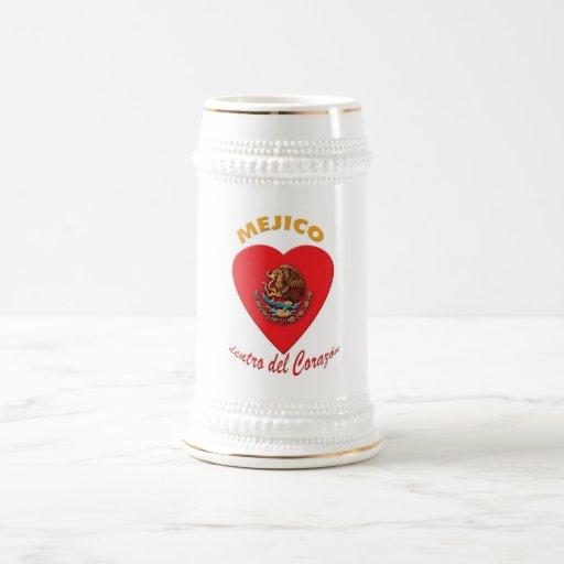 Tazas de cerveza del Corazón del dentro de Méjico