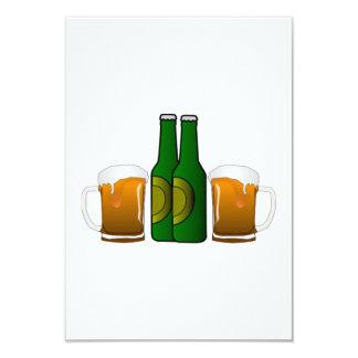 Tazas de cerveza invitación 8,9 x 12,7 cm