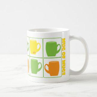 Tazas de diversión de las tazas y de taza de café