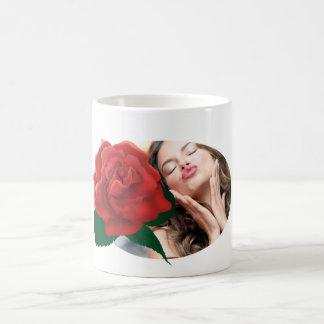 Tazas de la foto de la flor