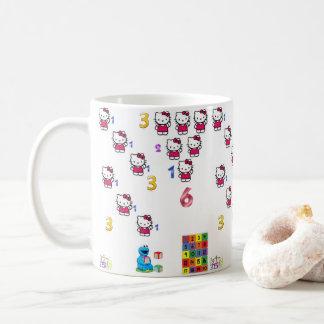 tazas de la taza del jiuce de los niños del número