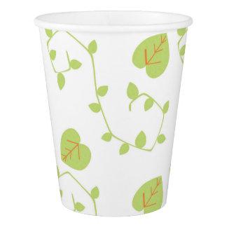 Tazas de papel de la vid moderna de la naturaleza vaso de papel