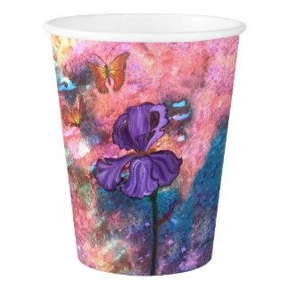 Tazas de papel de los monarcas en colores pastel vaso de papel