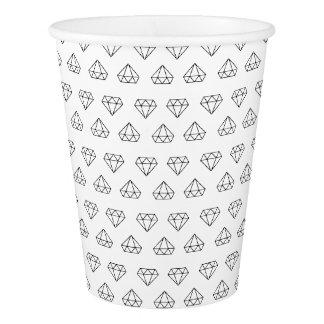 Tazas de papel del modelo del diamante vaso de papel