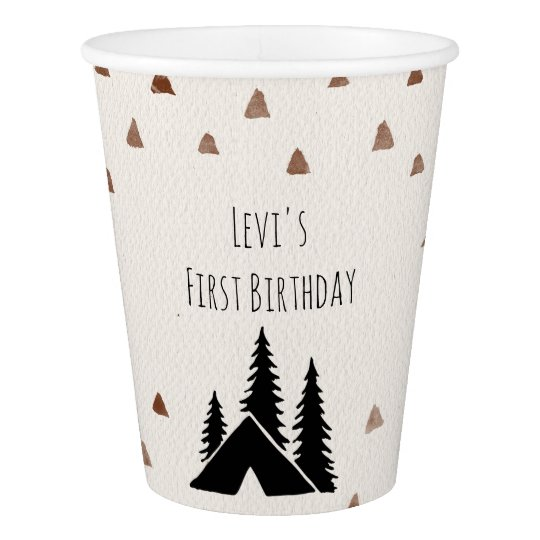 Tazas de papel salvajes de un fiesta de la montaña vaso de papel