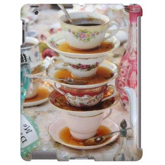 Tazas de té en un fiesta funda para iPad