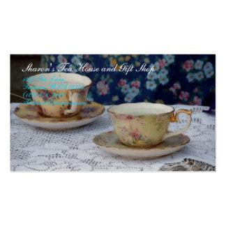 Tazas de té tarjetas de visita