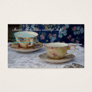 Tazas de té tarjeta de visita