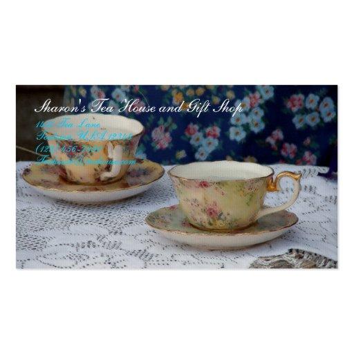 Tazas de té tarjetas personales