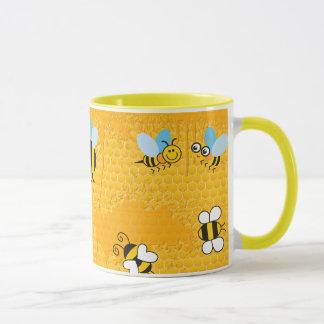 Tazas del campanero de la abeja del panal y del