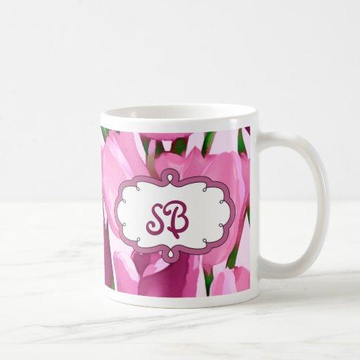 Tazas del monograma del regalo del día de madre de