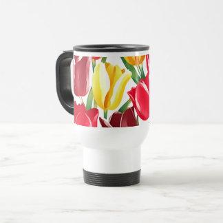 Tazas del regalo de Pascua de los tulipanes de la