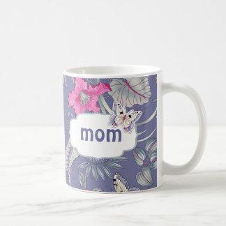Tazas del regalo del día de la mariposa y de madre