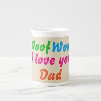Tazas del té del café del papá del tejido del