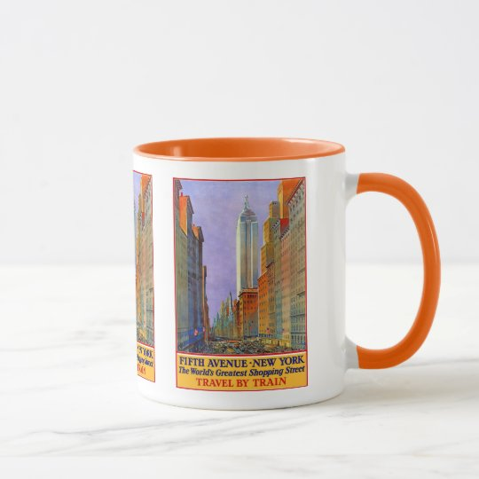 Tazas del viaje del vintage de Nueva York los