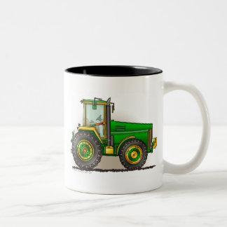Tazas grandes verdes del tractor