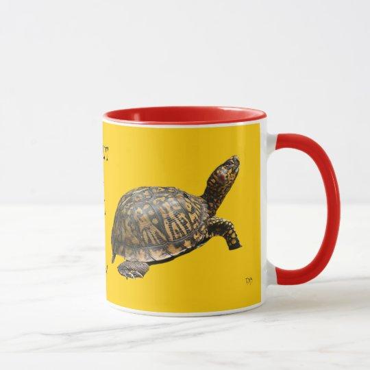 Tazas pertinaces de la tortuga
