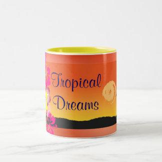 tazas tropicales de los sueños