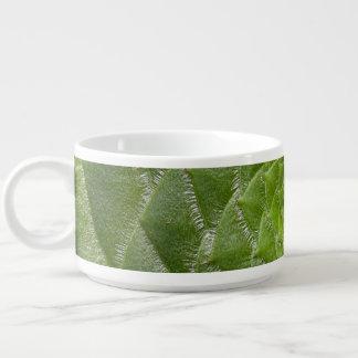 Tazón diseño verde del espiral del modelo de la hoja